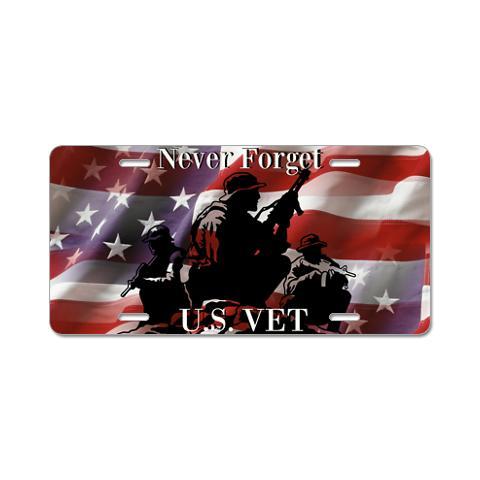 never_forget_us_vet_aluminum_license_plate