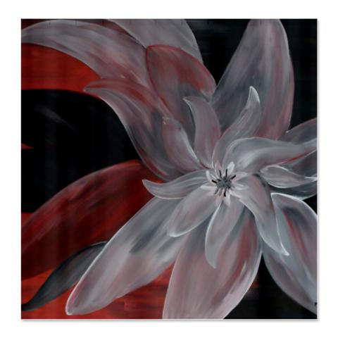 abstract_floral_shower_curtain