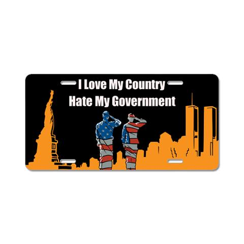 i_love_my_country_aluminum_license_plate