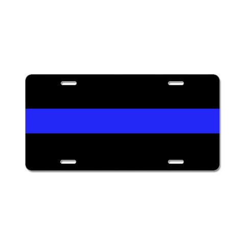 blue_and_black_police_aluminum_license_plate