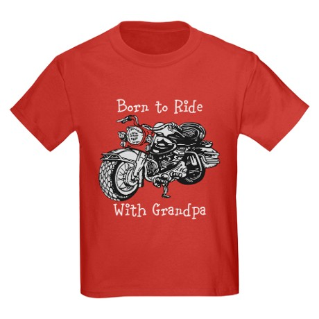 born_to_ride_with_grandpa_kids_dark_tshirt